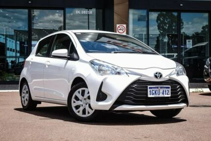2017 Toyota Yaris NCP130R Ascent White 4 Speed Automatic Hatchback Maddington Gosnells Area Preview
