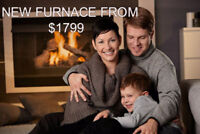 NEW FURNACE LENNOX & GOODMAN FROM: $1799