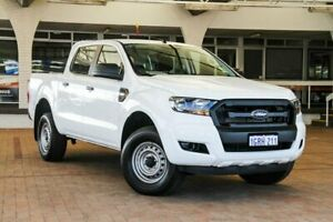 2017 Ford Ranger PX MkII XL Double Cab Frozen White 6 Speed Sports Automatic Cab Chassis