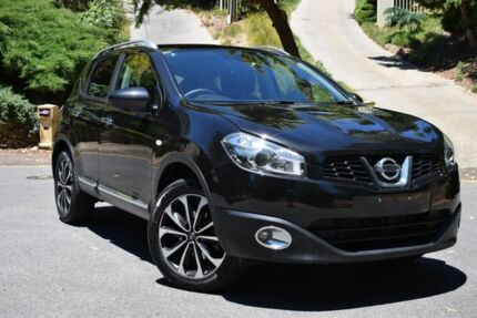 2013 Nissan Dualis J10W Series 3 MY12 Ti-L Hatch X-tronic 2WD Black 6 Speed Constant Variable St Marys Mitcham Area Preview