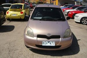 2002 Toyota Echo NCP10R Pink 5 Speed Manual Hatchback Laverton Wyndham Area Preview