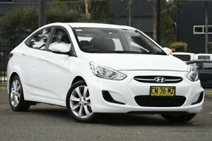 2017 Hyundai Accent RB5 MY17 Sport White 6 Speed Sports Automatic Sedan Condell Park Bankstown Area Preview