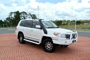 2015 Toyota Landcruiser VDJ200R Sahara White 6 Speed Automatic Long Wheel Base