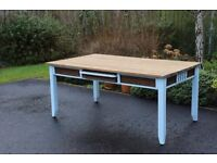 6ft duck egg blue solid wood table