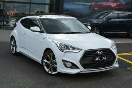 2017 Hyundai Veloster FS5 Series II SR Coupe D-CT Turbo White 7 Speed Sports Automatic Dual Clutch Burwood Whitehorse Area Preview