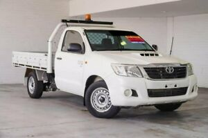2013 Toyota Hilux KUN16R MY12 SR 4x2 White 5 Speed Manual Cab Chassis