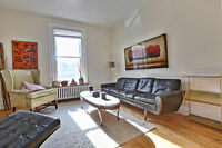 MILE END; gorgeous main floor renovated Victorian 2BR