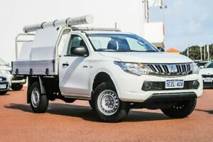 2015 Mitsubishi Triton MN MY15 GL 4x2 White 5 Speed Manual Cab Chassis Rockingham Rockingham Area Preview