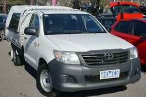 2012 Toyota Hilux TGN16R MY12 Workmate 4x2 White 4 Speed Automatic Cab Chassis Phillip Woden Valley Preview