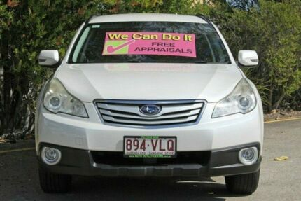 2011 Subaru Outback B5A MY11 2.5i Lineartronic AWD White 6 Speed Constant Variable Wagon