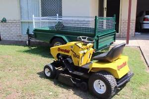RIDE ON MOWER GREENFEILD AND 8x4 reg TRAILER selling together Rothwell Redcliffe Area Preview