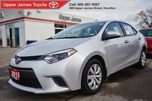2015 Toyota Corolla LE - Toyota Certified 170-pt inspected.