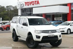 2013 Mitsubishi Triton MN MY13 GLX (4x4) White 5 Speed Manual 4x4 Double Cab Utility Wyoming Gosford Area Preview