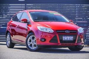 2013 Ford Focus LW MKII Trend PwrShift Red 6 Speed Sports Automatic Dual Clutch Hatchback Maddington Gosnells Area Preview