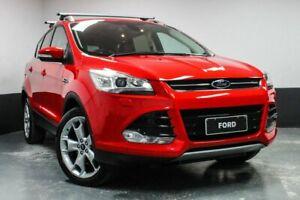 2013 Ford Kuga TF Titanium AWD Red 6 Speed Sports Automatic Wagon Hamilton East Newcastle Area Preview