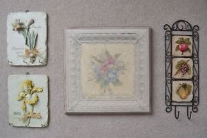 Variety of Pretty Wall Decor/Art in Excellent Condition