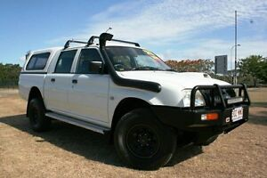 2005 Mitsubishi Triton MK MY05 GLX Double Cab White 5 Speed Manual Utility Townsville Townsville City Preview