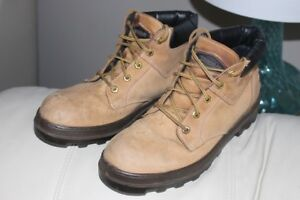 Terra Leather safety boots men's size US CA 9 ½ steel toe protec