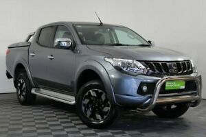 2017 Mitsubishi Triton MQ MY17 Exceed Double Cab Grey 5 Speed Sports Automatic Utility