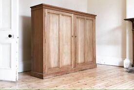 Georgian linen cabinet in pine