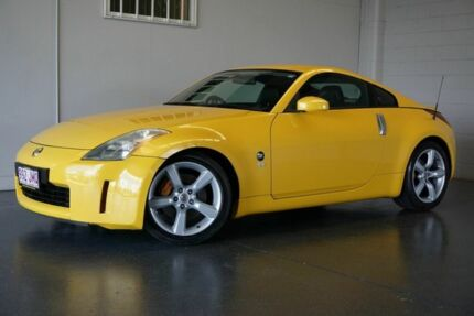 2005 Nissan 350Z Z33 MY05 Upgrade Track Yellow 6 Speed Manual Coupe Woodridge Logan Area Preview