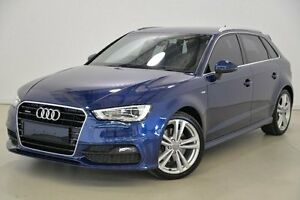 2013 Audi A3 8V Ambition Sportback S tronic quattro Blue 6 Speed Sports Automatic Dual Clutch Mansfield Brisbane South East Preview