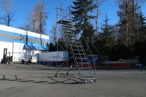 Masterline Rolling Ladder 12 ft Platform