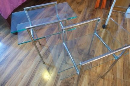 2 x Glass Coffee / Side Tables Beaconsfield Fremantle Area Preview