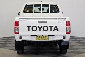2015 Toyota Hilux KUN26R MY14 SR Double Cab White 5 Speed Automatic Utility Seven Hills Blacktown Area Preview