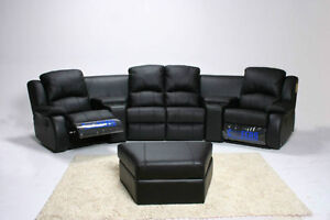 Store Wide Super SALE! IS ON  Brand New LEATHER POWER RECLINING THEATRE SEATING SECTIONAL