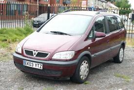 Vauxhall Zafira 1.6 (7 seater with towbar)
