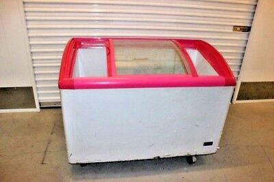 Commercial Ice Cream Chest Freezer Display Slide Glass Top