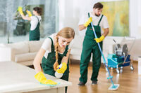 We are looking for reliable two or three person cleaning teams