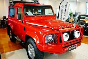 2012 Land Rover Defender 90 12MY Red 6 Speed Manual Wagon Pearce Woden Valley Preview
