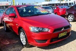 2009 Mitsubishi Lancer CJ RX Red Constant Variable Sedan Minchinbury Blacktown Area Preview
