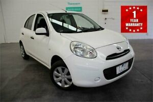2013 Nissan Micra K13 MY13 ST White Automatic Hatchback Mordialloc Kingston Area Preview