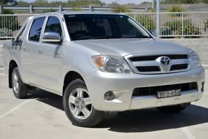 2008 Toyota Hilux GGN15R 07 Upgrade SR5 Silver 5 Speed Manual Dual Cab Pickup Lisarow Gosford Area Preview