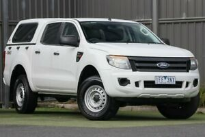 2015 Ford Ranger PX XL Double Cab White 6 Speed Sports Automatic Utility