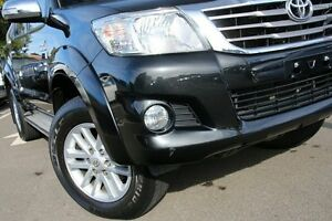 2012 Toyota Hilux KUN26R MY12 SR5 (4x4) Black 4 Speed Automatic Dual Cab Pick-up Dee Why Manly Area Preview