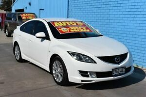 2009 Mazda 6 GH Classic White 5 Speed Auto Activematic Hatchback Enfield Port Adelaide Area Preview
