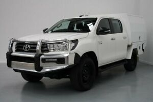 2016 Toyota Hilux GUN126R SR Double Cab White 6 Speed Sports Automatic Cab Chassis Altona North Hobsons Bay Area Preview