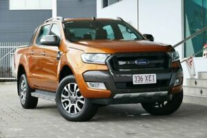 2016 Ford Ranger PX MkII Wildtrak Double Cab Orange 6 Speed Sports Automatic Utility Springwood Logan Area Preview