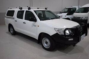 2014 Toyota Hilux GGN15R MY14 SR Double Cab White 5 Speed Automatic Utility Kenwick Gosnells Area Preview