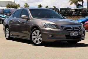2012 Honda Accord 8th Gen MY11 V6 Luxury Brown 5 Speed Sports Automatic Sedan