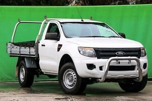 2012 Ford Ranger PX XL 4x2 Hi-Rider Cool White 6 Speed Sports Automatic Cab Chassis Ringwood East Maroondah Area Preview