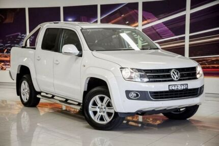 2014 Volkswagen Amarok 2H MY15 TDI420 4Motion Perm Highline White 8 Speed Automatic Utility