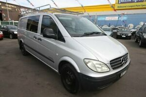 2006 Mercedes-Benz Vito 639 MY07 109CDI Low Roof Long Silver 6 Speed Manual Van