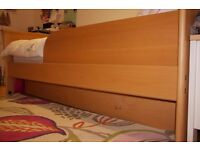 Single Bed, Pullout Bed, Desk and Bookshelf