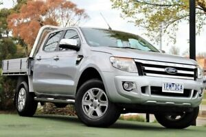 2014 Ford Ranger PX XLT Double Cab 4x2 Hi-Rider Silver 6 Speed Manual Utility