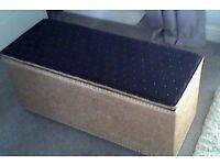 Storage Box - Ottoman Gold/Black